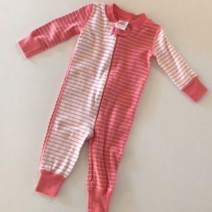 NWOT Hanna Andersson Pink Stripe Zip pajamas
